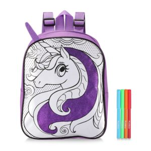 Unicorn Colour-In Backpack